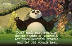 10 Awesome Lines From Kung Fu Panda That Will Definitely Cheer You Up Good Thoughts Quotes, Good Life Quotes, Wisdom Quotes, Film Disney, Disney Movie Quotes, Qi Gong, Kung Fu Panda Quotes, Citations Film, Disney Theory