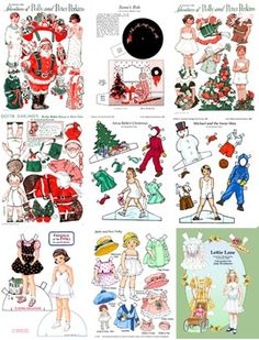 8 Asst. Christmas Paper Doll Note Cards