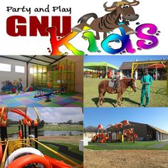 Visit Gnu Valley Farm with its fishing dams and sprawling lawns to view our spectacular and colourful indoor & outdoor playground and party venue.  Book your birthday party, stork party or just join us for the day to allow the kids to frolic in a safe environment.  Children can happily play at the outdoor play area with swings, tyres, rope, jungle gym and in warmer weather play in the splash pool. The kids are allowed to bring their own bicycles.   Our indoor play area has a toddler area as…