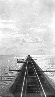 Top of the Seven Mile Bridge, Key West Extension of the FEC Railway.
