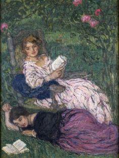 Edmond François Aman-Jean (French artist, 1858–1936) Women Reading 1922 - ARTEmisiaLegge - @Libriamo Tutti - http://www.libriamotutti.it/