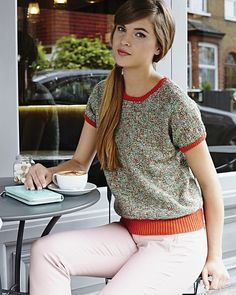 Ravelry: Tee Shirt Top pattern by Debbie Bliss Wool Shop, The Wooly, Sport Weight Yarn, Tee Shirts, Tees, Knit Or Crochet, Top Pattern, Elegant, Crochet Clothes
