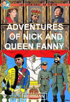 Les Aventures de Tintin - Album Imaginaire - Adventures of Nick and Queen Fanny