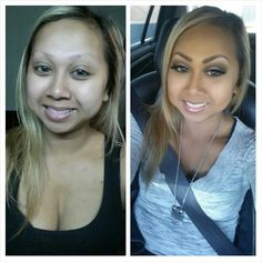 Makeup. Before & after