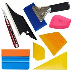 Car Window Film Installation Tools Kit Trim Handled Rubber Squeegee 3M Felt Edge Squeegee mini Scraper Car Home Tint set TK01-US