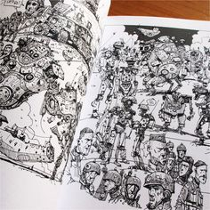 Ian McQue — 'Robots, Spacedudes, Flying Ships etc - A Book of Drawings by Ian McQue'