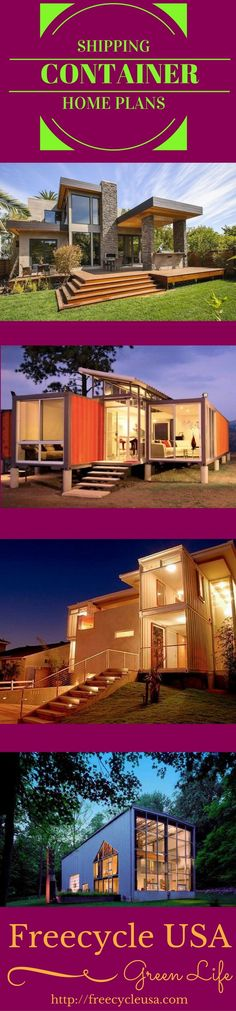 Container House - Beautiful Container Homes that can be built for pennies on the dollar. Find out more on how you can build your own Shipping Container Home. Who Else Wants Simple Step-By-Step Plans To Design And Build A Container Home From Scratch? Container Home Designs, Storage Container Homes, Container Van, Building A Container Home, Container Buildings, Container Architecture, Beautiful Modern Homes, House Beautiful, Shipping Container House Plans