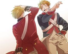 Hetalia - America / England (a picture of the Revolutionary War that isn't depressing!)