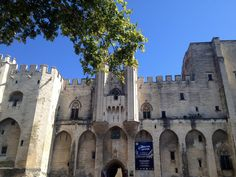 Lieux incontournable d'Avignon, le Palais des Papes où en saison estivale il propose un spectacle que je recommande fortement les Luminescences. #weekend #patrimoine #france #spectacle #travel