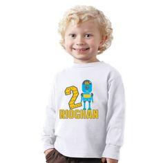 Personalized 2 years old Robot birthday boy short by shirtsbynany, $14.99