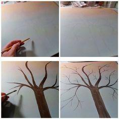 DIY Craft for home Decor - Button Tree