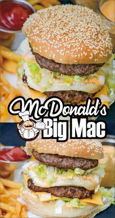McDonald's Big Mac - Easy Kraft Recipes - McDonald's Big Mac – Easy Kraft Recipes - Kraft Foods, Kraft Recipes, Gourmet Recipes, Beef Recipes, Cooking Recipes, Healthy Recipes, Easy Burger Recipes, Juicy Burger Recipe, Easy Recipes