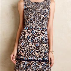 Maeve Brindille Sheath Dress Anthropologie Size 8