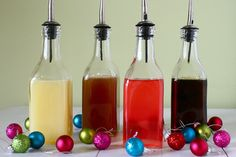 DIY Flavored Syrups for the holidays - cream sodas, soft drinks, hot chocolate, etc.