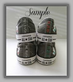 Bride and Groom Converse Wedding Shoes, Mr. & Mrs., Custom Converse, Home States, Chuck Taylors, Painted Converse, Wedding Converse, Unisex