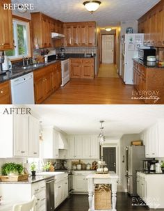 Nina Everyday Enchanting diy painted oak kitchen cabinets review