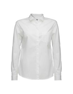 Tiger Woman, Darcell shirt-Classic women's shirt in cotton stretch. Details include a small collar, a single breast pocket and clean placket with hidden buttoning. Slightly rounded hemline and slim fit.