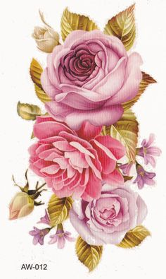 Cute Pink Flower Temporary Tattoo at MyBodiArt