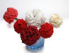 Dianthus caryophyllus/crochet carnation/clove by emymade on Etsy