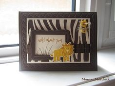 Monanasmiles - Wild About You Safari by Monanasmiles - Cards and Paper Crafts at Splitcoaststampers