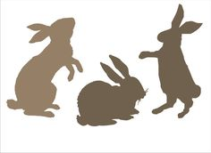 Bunny Rabbit Reusable Stencil - Set of 3 Rabbits- 3 sizes Available- Create your own Easter Signs Easter Decorations