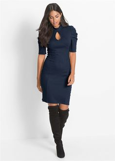 Discover affordable fashion and exclusive styles at bonprix. Wrap Dress, Cold Shoulder Dress, High Neck Dress, Dresses For Work, Boutique, Sweaters, Black, Fashion, Vestidos
