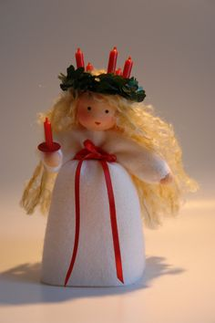 Santa Lucia  -Christmas- Flower Child - Waldorf  Inspired. €33.00, via Etsy.