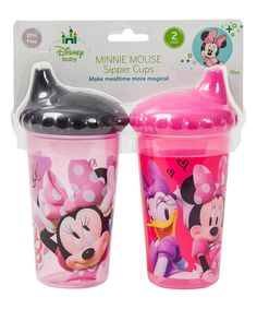 Loving this Minnie Mouse Glitter Slim Sippy Cup - Set of Two on #zulily! #zulilyfinds