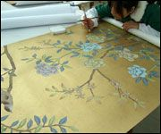 G & W Collections: Chinoiserie Papers - Summer Palace (artist at work)
