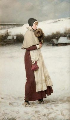 Girl with a Muff  by George Henry Boughton.