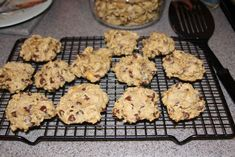 Deceptively Delic Chocolate chip cookies made with garbanzo beans (I add quickly chop them up in small food processor but recipe leaves them whole). I make these for my son to get some added protein in his treats but we all love them! You can freeze them too.