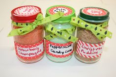 These are Cute Christmas Bath Salts that I sold at a Christmas market... So easy and simple to make!