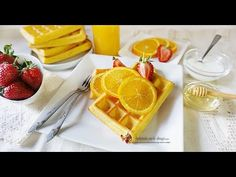 Vafe cu portocale la cuptor - YouTube Waffles, Breakfast, Food, Youtube, Morning Coffee, Eten, Waffle, Meals, Morning Breakfast