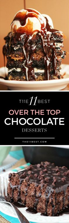 Over the top chocolate dessert recipe ideas