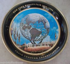 vintage NYC Worlds Fair 1964-65 Expo commemorative plate