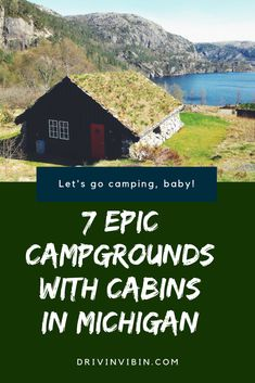 for great campgrounds with cabins in Michigan? Look no further. Here are 7 of the best! Michigan Vacations, Michigan Travel, Lake Michigan, Vacation Trips, Vacation Spots, Vacation Ideas, Camping Michigan, Italy Vacation, Best Campgrounds