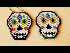 Beaded Sugar Skull // Brick Stitch and Bead Weaving// How To ¦ The Corner of Craft - YouTube