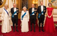 Royals: (Left to right) The Duchess of Cornwall, the Prince of Wales, Queen Elizabeth II, ...