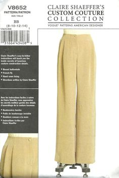 Vogue  Pants Pattern 8652 Claire Shaeffer Uncut  by SewReallyCute, $20.00