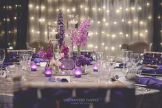 P U R P L E  +  P L A T I N U M  W E D D I N G L A V I S H  / G R A C E F U L  / E X Q U I S I T E This gorgeous wedding was set with cascading walls of fairy lights. The light illuminated a delicate assortment of …