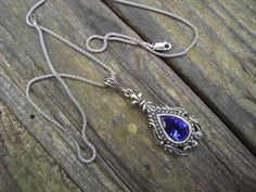 Medieval necklace in sterling silver from Etsy