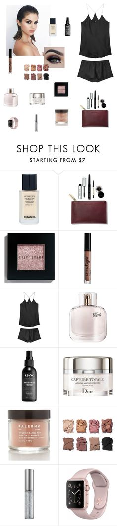 """Simplistic Beauty"" by amandamariko ❤ liked on Polyvore featuring beauty, Chanel, Bobbi Brown Cosmetics, Charlotte Russe, Olivia von Halle, Lacoste, NYX, Christian Dior, Palermo Body and Illamasqua"