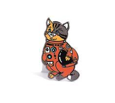 'Astronaut Kitty Cat' Pin – Gimme Flair