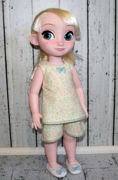 Clothes for Disney Animator 16 Doll.Pajamas to Fit