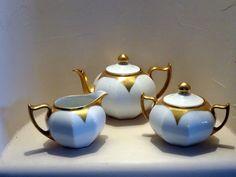Vintage Z. S. & Co.Bavaria Tea Set White by TiesofMyFather on Etsy, $87.00