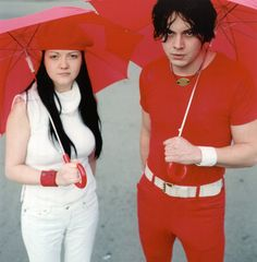 Meg and Jack White from The White Stripes