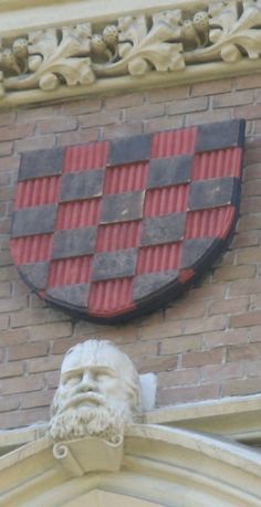 Croatian Coat of Arms in Vienna, captial of Austria, Akademisches Gymnasium (1863-1866),   Beethovenplatz 1. The Gymnasium was founded in 1553, but in 1866 it moved to the new building. The Coats of Arms are from the middle of the 19th century.