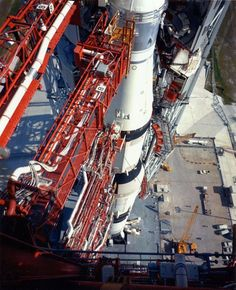 The Apollo 11 Saturn V rocket on launch complex 39A at Cape Canaveral, July 7, 1969