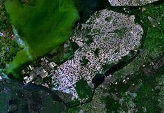 Satellite image of Flevopolder, Netherlands (5.48E 52.43N) - Artificial island - Wikipedia, the free encyclopedia