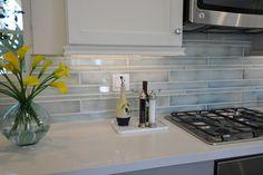 watercolor tile backsplash